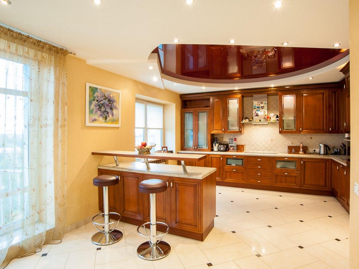 натяжные потолки фото на кухне отзывы целовальникова
